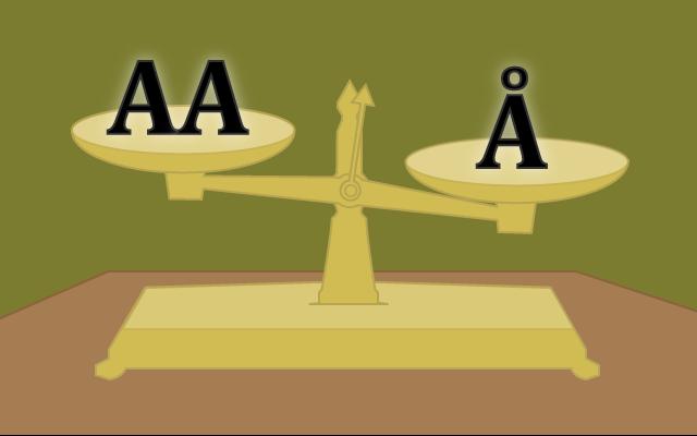 Dobbelt A vs Å